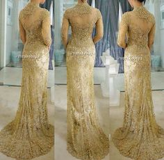 In gold for big day means classy #kebaya
