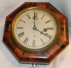 Up for auction is an antique 1800's E. N. Welch 1 Day Silent Lever Escapement Marines Ship's Octagonal Rosewood Galley Wall Clock. The only thing I can guarantee about the clock is that I do not know
