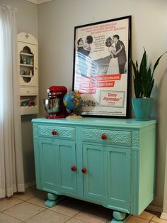 Chic Spaces for Little Faces: dresser transformation in progress