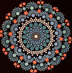 Hand-painted, dot technique. 30 x 30 cm. Dot Art Painting, Mandala Painting, Acrylic Painting Canvas, Dots, Hand Painted, Crafts, Design, Pointillism, Mandalas