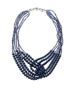 "Something blue- in a big way! ""Abby Twist Necklace"""