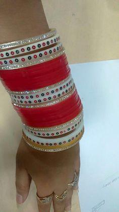 Punjabi Chura, Punjabi Bride, Indian Bangles, Indian Jewelry, Wedding Chura, Bridal Chuda, Indian Wedding Makeup, Punjabi Culture, Rajputi Dress