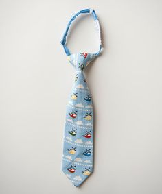Take a look at this Blue Helicopter Tie on zulily today!