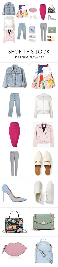 """Вопрос стилисту_4"" by christinamaker on Polyvore featuring мода, Gap, Alice + Olivia, M.i.h Jeans, Frame, MANGO, Gucci, Gianvito Rossi, Jennifer Lopez и Kendall + Kylie"