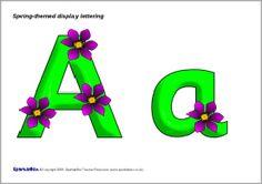 Spring-themed display lettering (SB2006) - SparkleBox