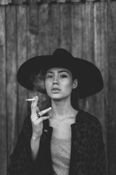 Hat & cigarette ☽ <<<< belljarsf.com >>> Gorgeous Little Things