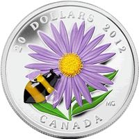 2012 Aster with Venetian Glass Bumble Bee Silver Commemorative Mintage, Photos, Specifications, and Where to Buy