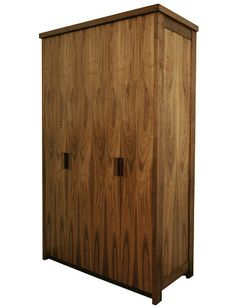 Sam Browns wardrobe is a good example of highlighting the strong figure of Walnut.  http://www.sambrownfurniture.co.uk/bespoke-walnut-and-cedar-freestanding-wardrobe?img=1