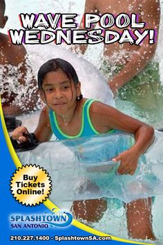 Wave Pool Wednesday tomorrow! Only 2 left!