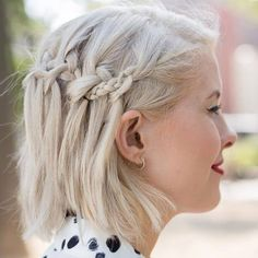 Braids for Short Hair – Secrets and Ideas  If you have shorter hair, you can experiment with braids as details. Short headband b