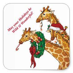 Animals - Giraffes - Animals - Postcards - Christmas Wallpapers, Free ClipArt for Xmas, Icon's, Web Element, Victorian Christmas Photos and Vintage Santa Claus pictures Christmas Animals, Christmas Love, All Things Christmas, Vintage Christmas, Victorian Christmas, Christmas Holidays, Merry Christmas, Giraffe Art, Cute Giraffe