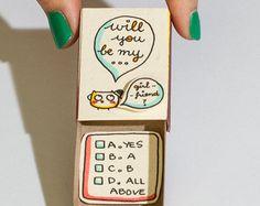 Jolie carte d'amour / carte d'anniversaire mignon / par shop3xu