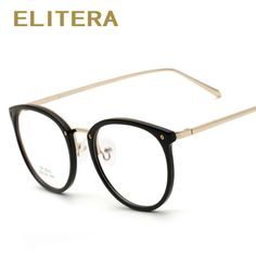 ELITERA New Women Eyeglasses Retro Vintage Optical Spectacle Eye Glasses Frame Men Women Brand Designer Oculos De Grau Femininos