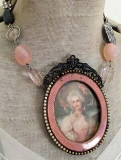 'pretty in pink' necklace by The French Circus on Etsy
