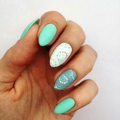 #nails #semilac #mint