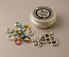 ringOs Winter Games - Limited Edition Snag-Free Ring Stitch Markers for Knitting