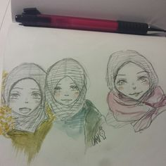 Sister and her friends~ Doodle :')