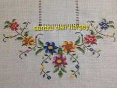 This Pin was discovered by Kan Funny Cross Stitch Patterns, Cross Stitch Borders, Crochet Borders, Modern Cross Stitch, Cross Stitch Flowers, Cross Stitch Designs, Embroidery Kits, Cross Stitch Embroidery, Cross Stitch Landscape