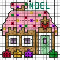 Killer Crafts & Crafty Killers -- Cross-stitched Gingerbread House
