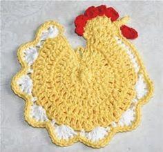 Image result for Vintage Chicken Crochet Potholder Patterns Easy