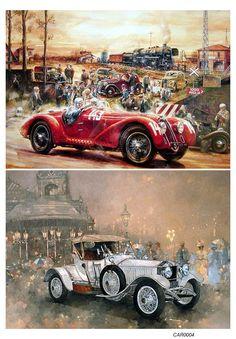 Нажмите чтобы посмотреть картинку, используйте мышь для перетаскивания. Используйте клавиши вперёд и назад Vintage Postcards, Vintage Photos, Rendering Art, Veteran Car, Car Illustration, Car Posters, Car Drawings, Unique Cars, Vintage Paris