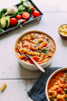 You Have Meals Poisoning More Normally Than You're Thinking That Perfect Vegan Minestrone Vegetables, Beans, Pasta, So Delicious And Healthy Pinned To Nutrition Stripped Soup Pasta Recipes, Soup Recipes, Vegetarian Recipes, Dinner Recipes, Healthy Recipes, Recipe Pasta, Healthy Soup, Smoothie Recipes, Recipies