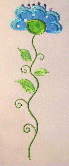 Vintage Flower 07 Machine Applique Embroidery Design  by KCDezigns, $3.50