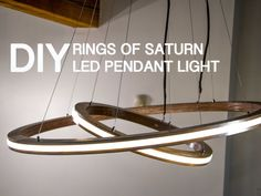 Nice! Rings of Saturn LED Music Visualizing Pendant Light by Modustrial Maker