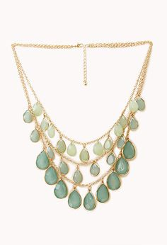 $10.80 Show Off Layered Teardrop Necklace | FOREVER21 - 1000066250