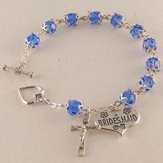 WeddingShopUSA.com: Swarovski® Wedding Rosary Bracelet, $59.95