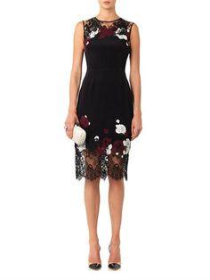 Erdem Kent floral-lace satin dress