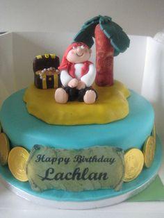 Pirate Island birthday cake