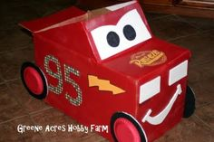 Lightning McQueen Cardboard Car Tutorial