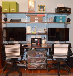 Build an organized home office without permanently modifying the room