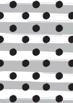 Black dots meet white stripes | polka dot | @Valerie Avlo Uhlir | background | image | grey
