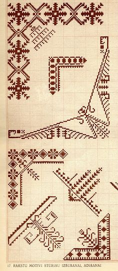 FolkCostume&Embroidery: Designs by Ž. Hungarian Embroidery, Folk Embroidery, Types Of Embroidery, Cross Stitch Embroidery, Embroidery Patterns, Cross Stitch Patterns, Butterfly Embroidery, Cross Stitch Samplers, Cross Stitching