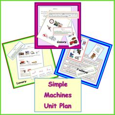 Simple Machines Science Unit Plan - I love using the 5E learning cycle model for science lessons.