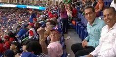 Popular de Hipolito Mejia se pone manifiesto en estadio Marlin Park, de Miami