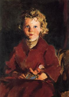 """Rosaleen,"" Robert Henri, 1928, oil on canvas, 28 x 20"", private collection."