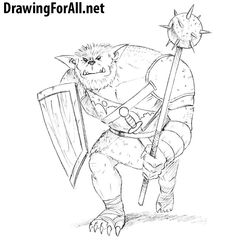 How to Draw a Bugbear. Learn to draw a Bugber from D&D with this step by step drawing tutorial. http://www.drawingforall.net/how-to-draw-a-bugbear/