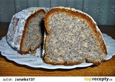 Makovo-tvarohová bábovka recept - TopRecepty.cz Czech Desserts, Eastern European Recipes, Czech Recipes, Pie Dessert, Banana Bread, Tart, Cupcake, Food And Drink, Favorite Recipes