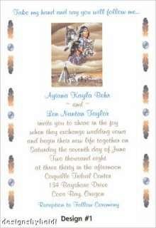 Native American Wedding Invitations Supplies Favors