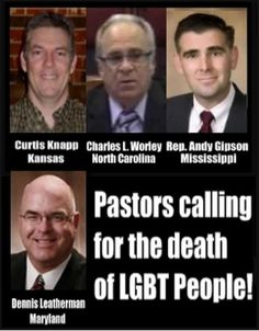 "Hey Christians, are these guys ""true Christian"" enough for you? This is what your discrimination is leading to and you are SUPPORTING this!"