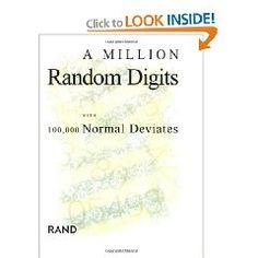 "A million random digits. $81!  You can use ""look inside"" to peek."
