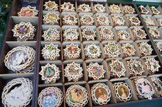 Schonbrunn Palace Christmas Market Vienna wood ornament hand made