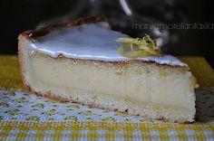 Torta al limone con glassa al limoncello