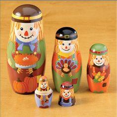 Scarecrow Nesting Dolls