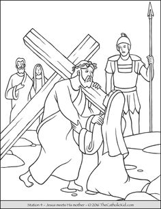 14 Best Stations of the Cross Coloring Pages images   Coloring pages ...