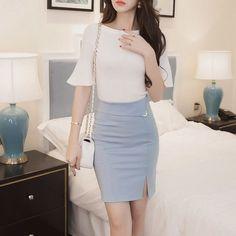Autumn 5XL Plus Size Slim Office Skirt Faldas Women Sexy Elastic High Waist Pencil Skirt Step Office Formal Skirt Saias Skirts