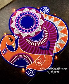 Simple Rangoli Border Designs, Rangoli Designs Latest, Rangoli Borders, Latest Rangoli, Colorful Rangoli Designs, Rangoli Patterns, Rangoli Ideas, Rangoli Designs Diwali, Rangoli Designs Images